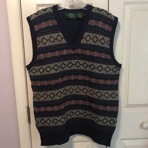 Habersham Road Mens 100% Wool Vest V Neck VTG